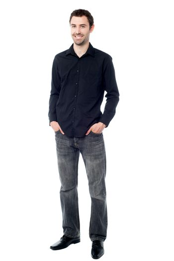 Stylish guy in trendy casuals