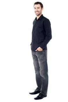 Stylish guy in trendy attire