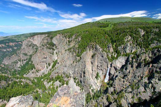 Bucking Mule Falls in Wyoming