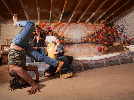 Acrobatic Capoeira Performers