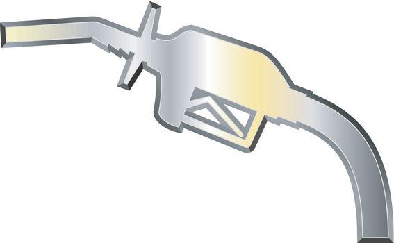 Fuel Pump Nozzle Chrome