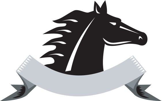 Angry Horse Head Side Retro