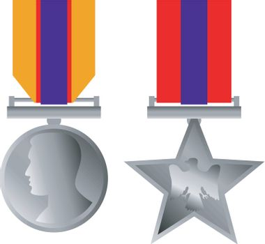 Military Bravery Medal of Honor Isolated