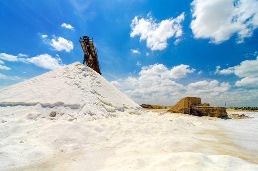 Salt production in Manaure in La Guajira, Colombia