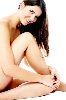 Smiling caucasian beauty posing