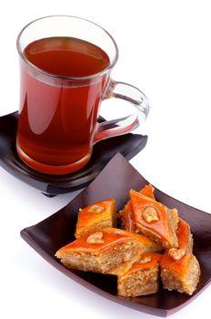 Tea and Baklava Sweets