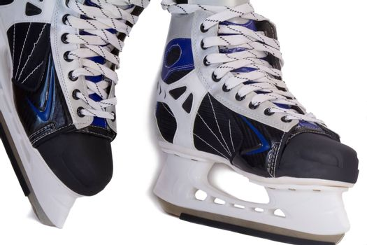 Comfortable and beautiful men's skating boots. Presented on a white background.
