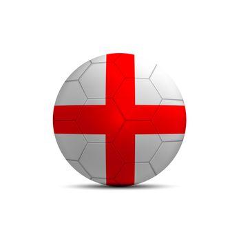 England flag ball isolated on white background