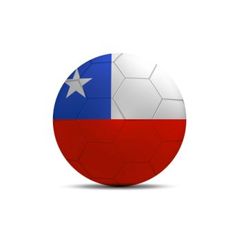 Chile flag ball isolated on white background