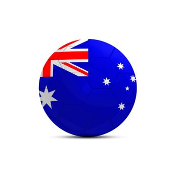 Australia flag ball isolated on white background