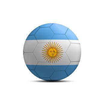 Argentina flag ball isolated on white background