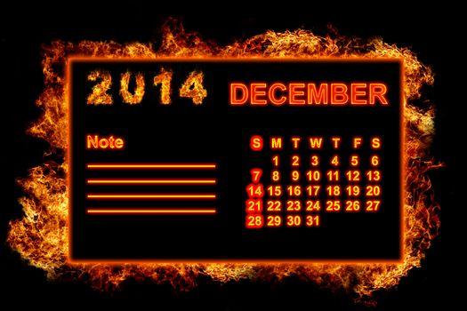 Fire Calendar December 2014