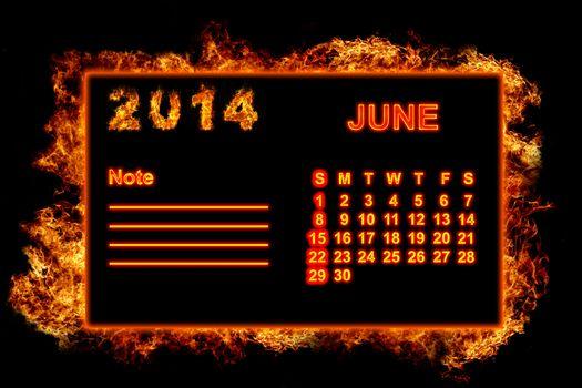 Fire Calendar June 2014