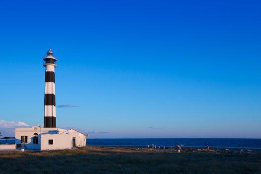 Menorca Cap de Artrutx Lighthouse in southwest cape