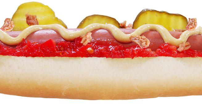 hotdog close-up