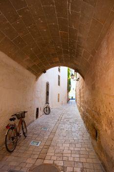 Ciutadella Menorca barrel vault passage downtown