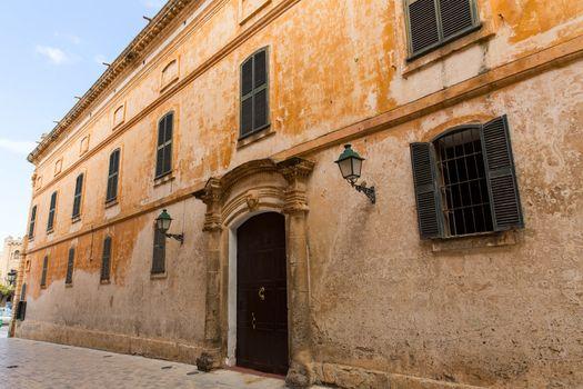 Ciutadella Menorca Major street in Ciudadela at Balearic