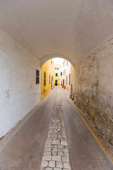 Menorca Carrer de Sant Climent barrel vault passage