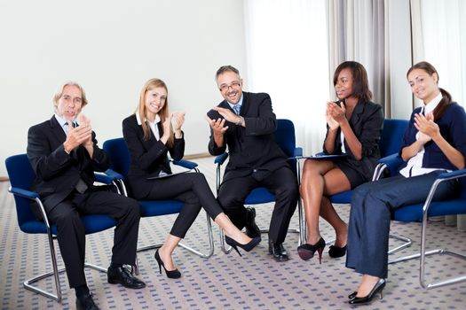 Team of happy successful businesspeople