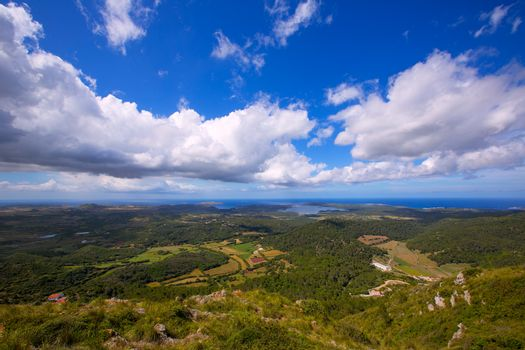 Menorca North aerial view from Pico del Toro
