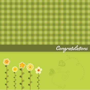 congratulation floral card