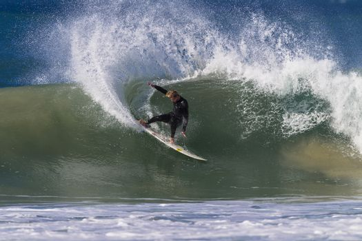Surfing Surfer Power Carve