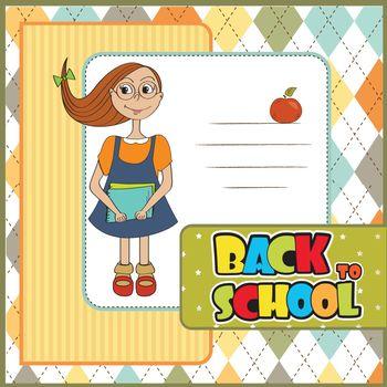 Funny schoolgirl