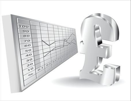 financial background with 3d lira sign