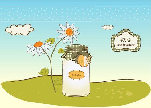 pure biological food jar
