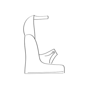 Shoes on a high heel isolated on white background