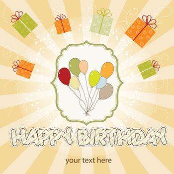 birthday card with balloon