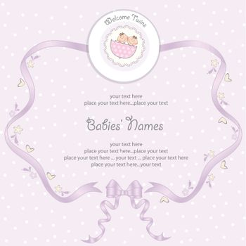 Babies twins Shower card