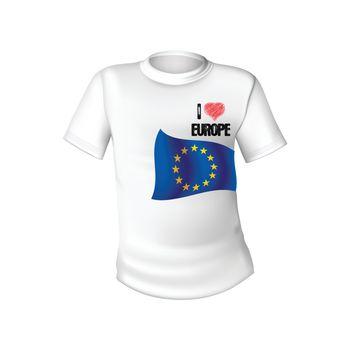 European Union t-shirt flag