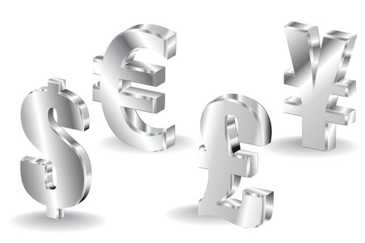 currency sign isolated on white background