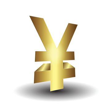 3d yen sign