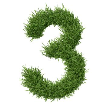 Arabic numeral made of grass