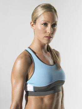 Female athlete standing portrait