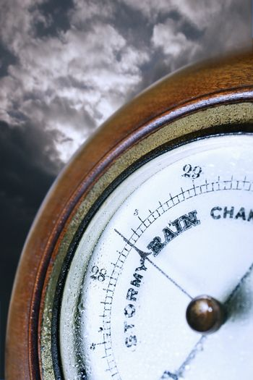 Weather Barometer Indicating Bad Weather