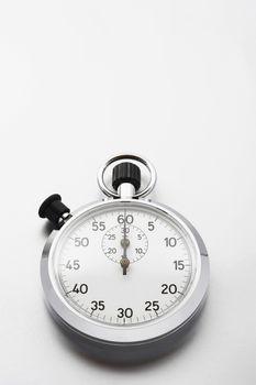 Stopwatch on white background studio shot