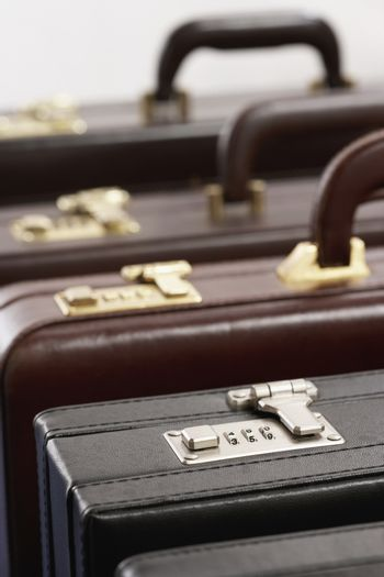Row of briefcases