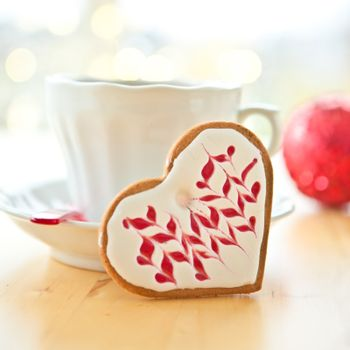 Heart-shaped cookie for christmas