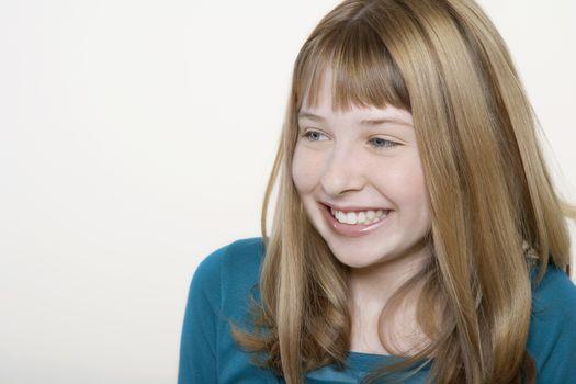 Smiling teenage girl close-up
