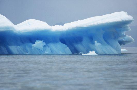 Iceberg floating on water