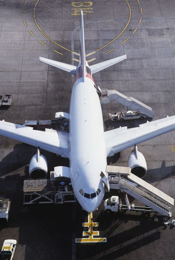 Commercial Airplane Ready for Loading