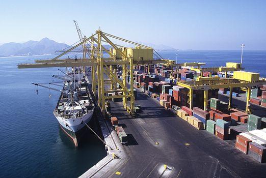 Ship Docking at Cargo Terminal