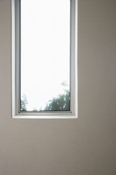 Elongated window of a house