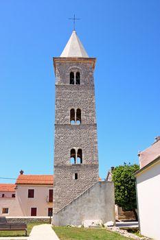 Bell tower of the parish Church of St. Anselm, Nin, Croatia