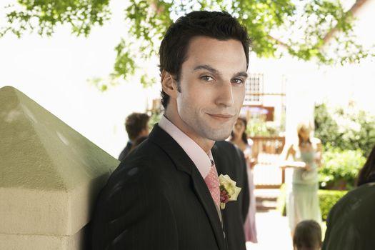 Portrait of a smart Caucasian groom