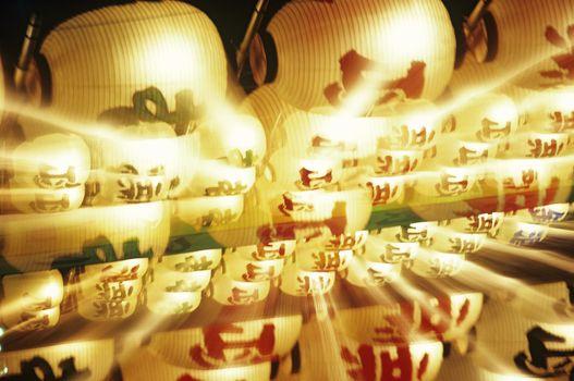 Illuminated Chinese lanterns
