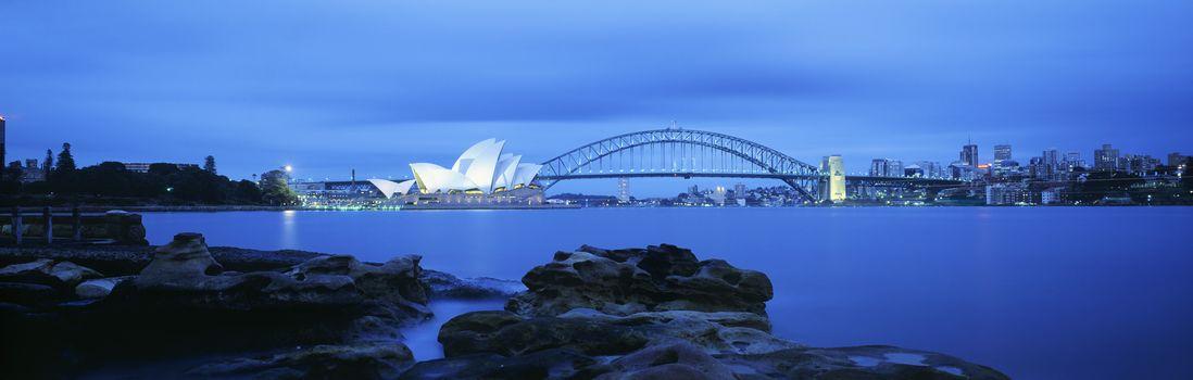 Sydney Harbor Bridge and Opera House